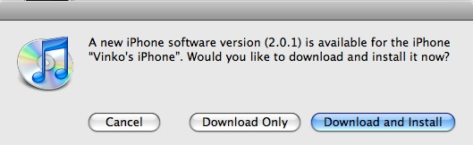 iPhone Firmware 2.0.1 Availability