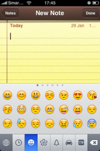 Emoji Enabled Note Pad