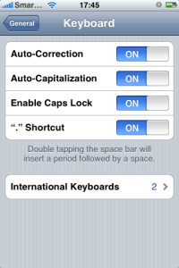 Keyboard Settings