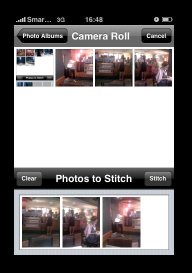 AutoStich Select Photos