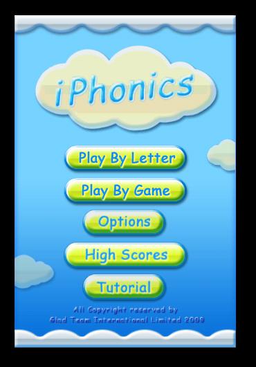 iPhonics - Home Screen