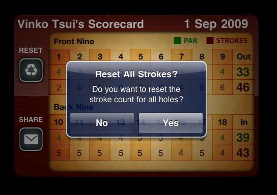 Strokes - Reset Score