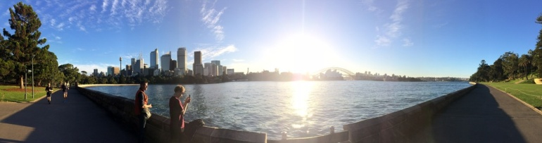 Another v iew of Sydney Opera House & Sydney Bridge from Mrs. Macquaries Point